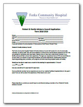 Patient and Family Advisory Council Application